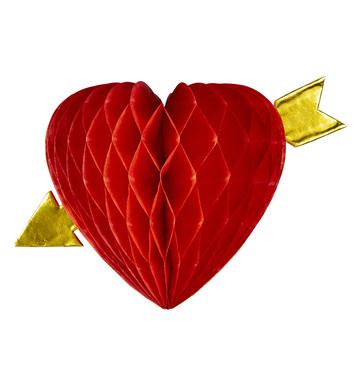 HONEYCOMB HEART AND ARROW Ø 13cm