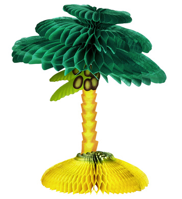 PALM TREE HONEYCOMB CENTERPIECE 48cm