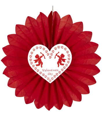 ST. VALENTINE'S DAY PAPER FAN 61cm