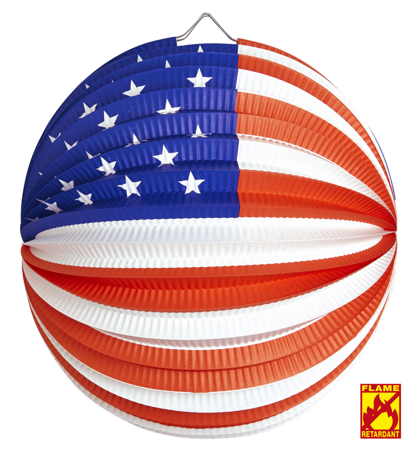 Usa Paper Ball 25cm - Flame Retardant Party Decoration