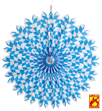 BAVARIAN PAPER FAN 70 cm - flame retardant