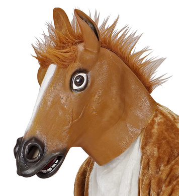 FULL HEAD MASK - BROWN HORSE