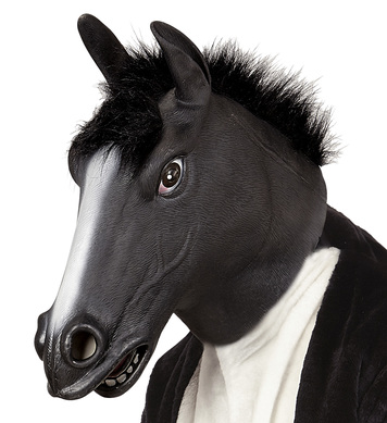 FULL HEAD MASK - BLACK HORSE