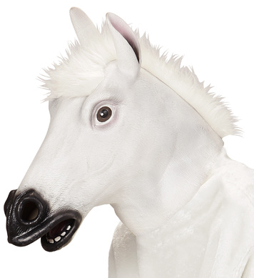 FULL HEAD MASK - WHITE HORSE