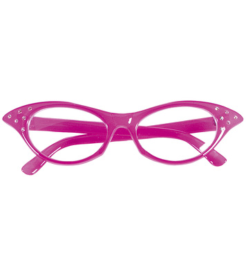 50s GLASSES WITH STRASS - PINK