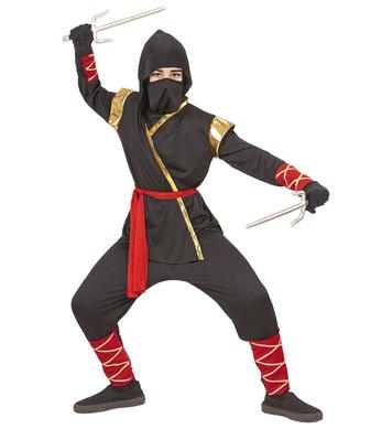 NINJA (hooded coat,pants,belt,facemask,arm&leg ties) Childrens