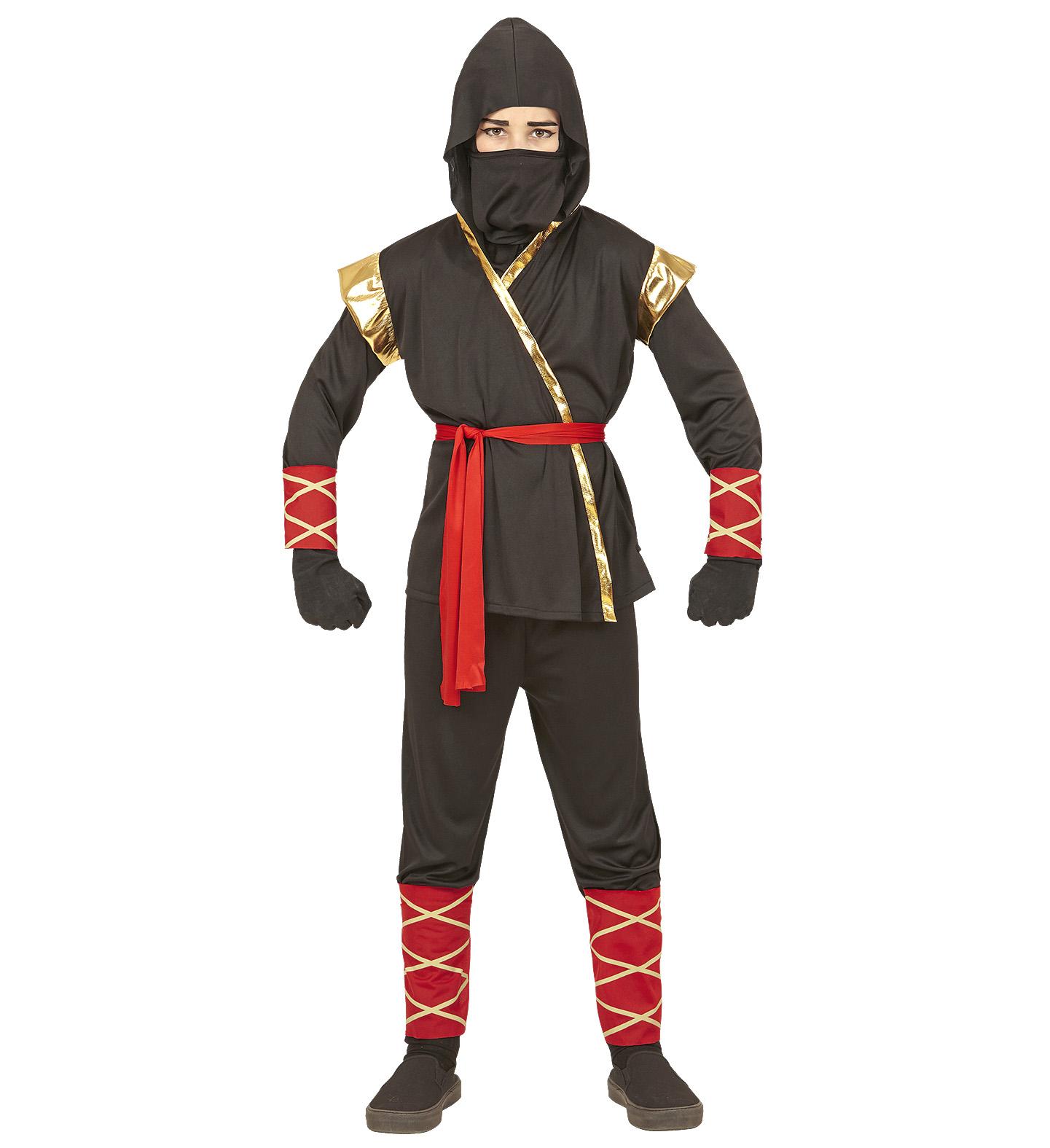 Garçons Ninja Costume Oriental Fighter Soldier Fancy Dress Outfit