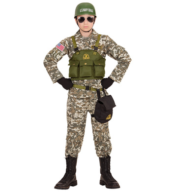 NAVY SEALS (Coat,vest,pants,belt,purse,helmet) Childrens