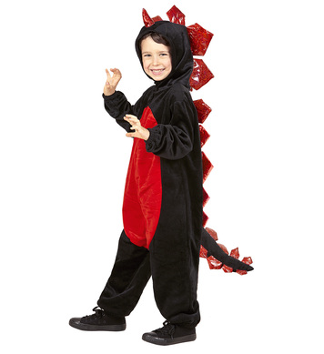 PLUSH BLACK DRAGON (hooded jumpsuit) Childrens