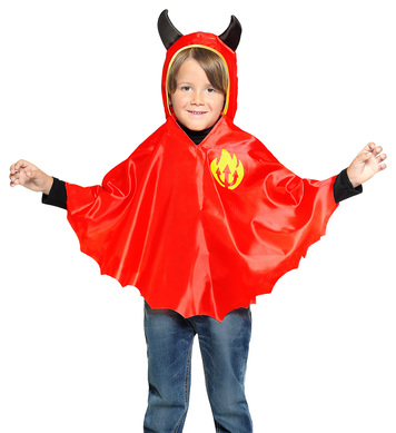 DEVIL (Hooded poncho) Childrens