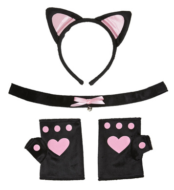 CAT SET - SOFT PINK (ears choker gloves)