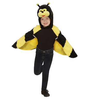 PLUSH BEE (2-4y) (hooded winged cape with mask)