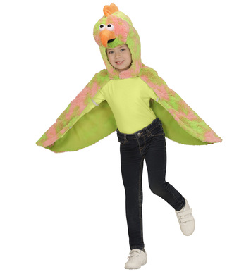 PLUSH CANARY (2-4y) (hooded winged cape mask)