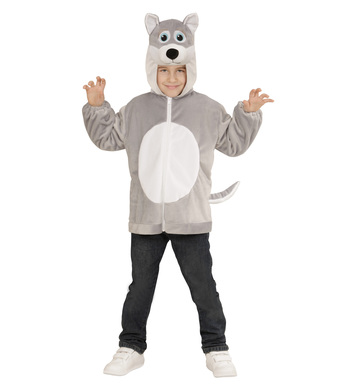 PLUSH WOLF (hoodie with mask) Childrens
