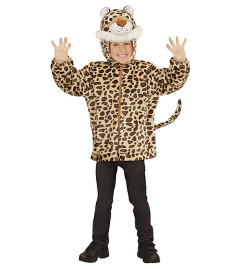 PLUSH LEOPARD (hoodie with mask) Childrens