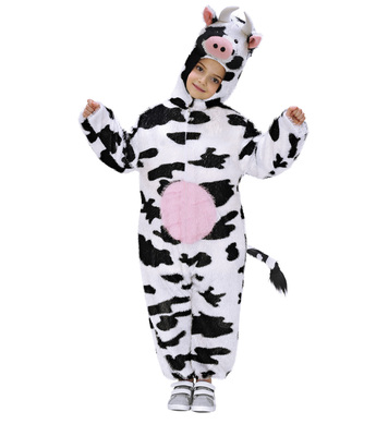 PLUSH COW (hooded jumpsuit with mask) Childrens