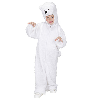 PLUSH POLAR BEAR (hooded jumpsuit with mask) Childrens