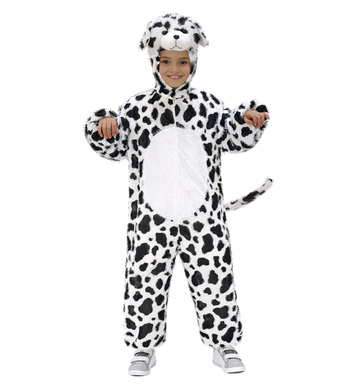 PLUSH DALMATIAN (hooded jumpsuit with mask) Childrens