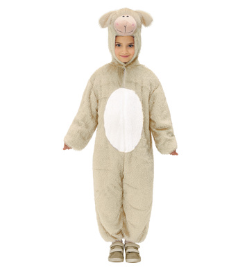 PLUSH LAMB (hooded jumpsuit with mask) Childrens