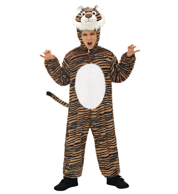 PLUSH TIGER (hooded jumpsuit with mask) Childrens