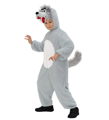 PLUSH WOLF (hooded jumpsuit with mask) Childrens