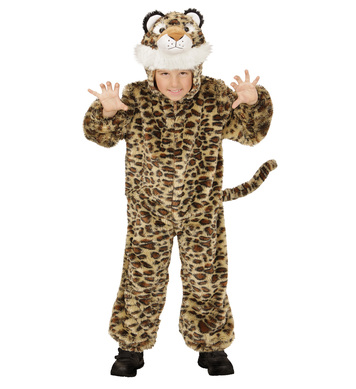 PLUSH LEOPARD (hooded jumpsuit mask) Childrens