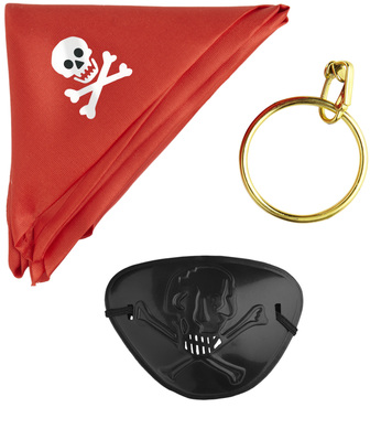 PIRATE SET (bandana eyepatch earring)