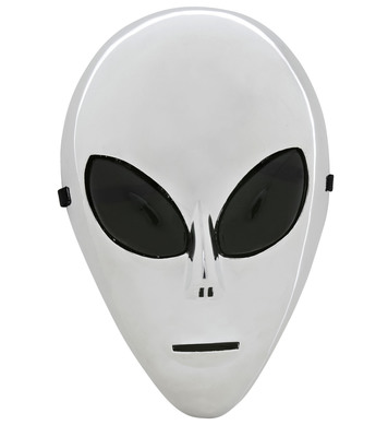 PLATED SILVER ALIEN MASK