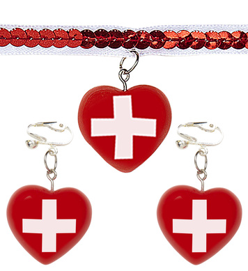 NURSE CHOKER & EARRINGS