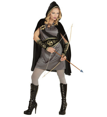 ARCHER GIRL (dress belt sash w/buckle arm bands h/cape)
