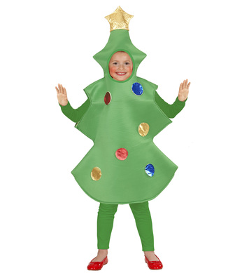 CHRISTMAS TREE CHILD  (110cm/116cm)  (one piece)