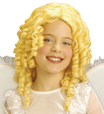 BLONDE CURLY ANGEL WIG - CHILD SIZE