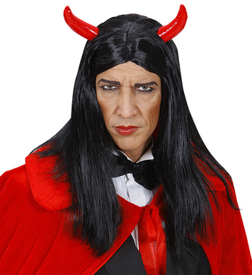 DEVIL WIG IN BOX BLACK