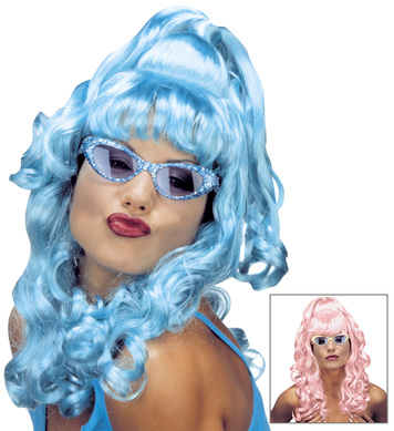 KELLY WIG  BOXED (turquoise/pink)