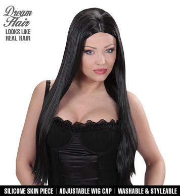 BLACK CHARLENE DREAMHAIR WIG in box