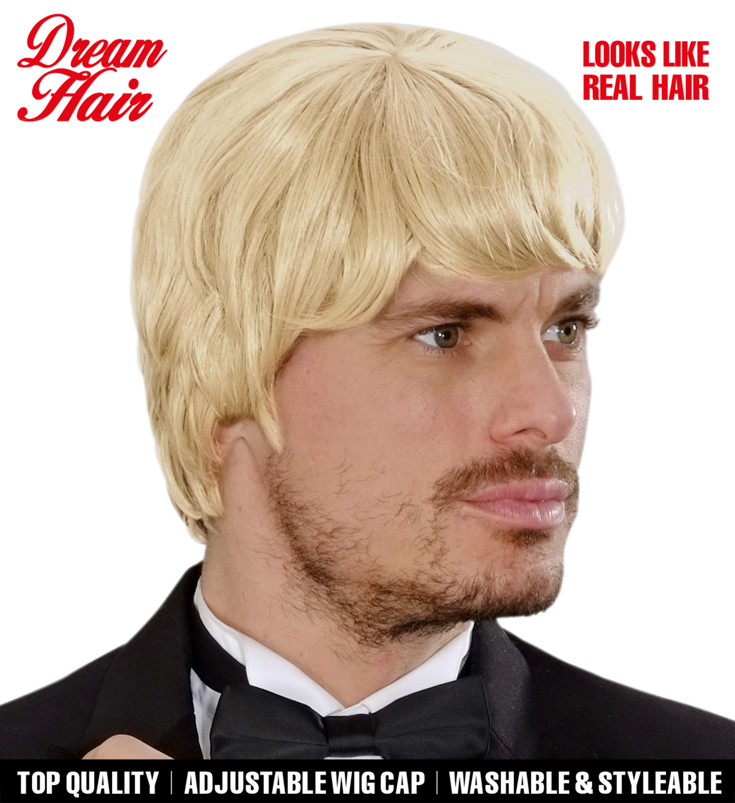 Blonde 60s Music Man Dreamhair Wig Fancy Dress