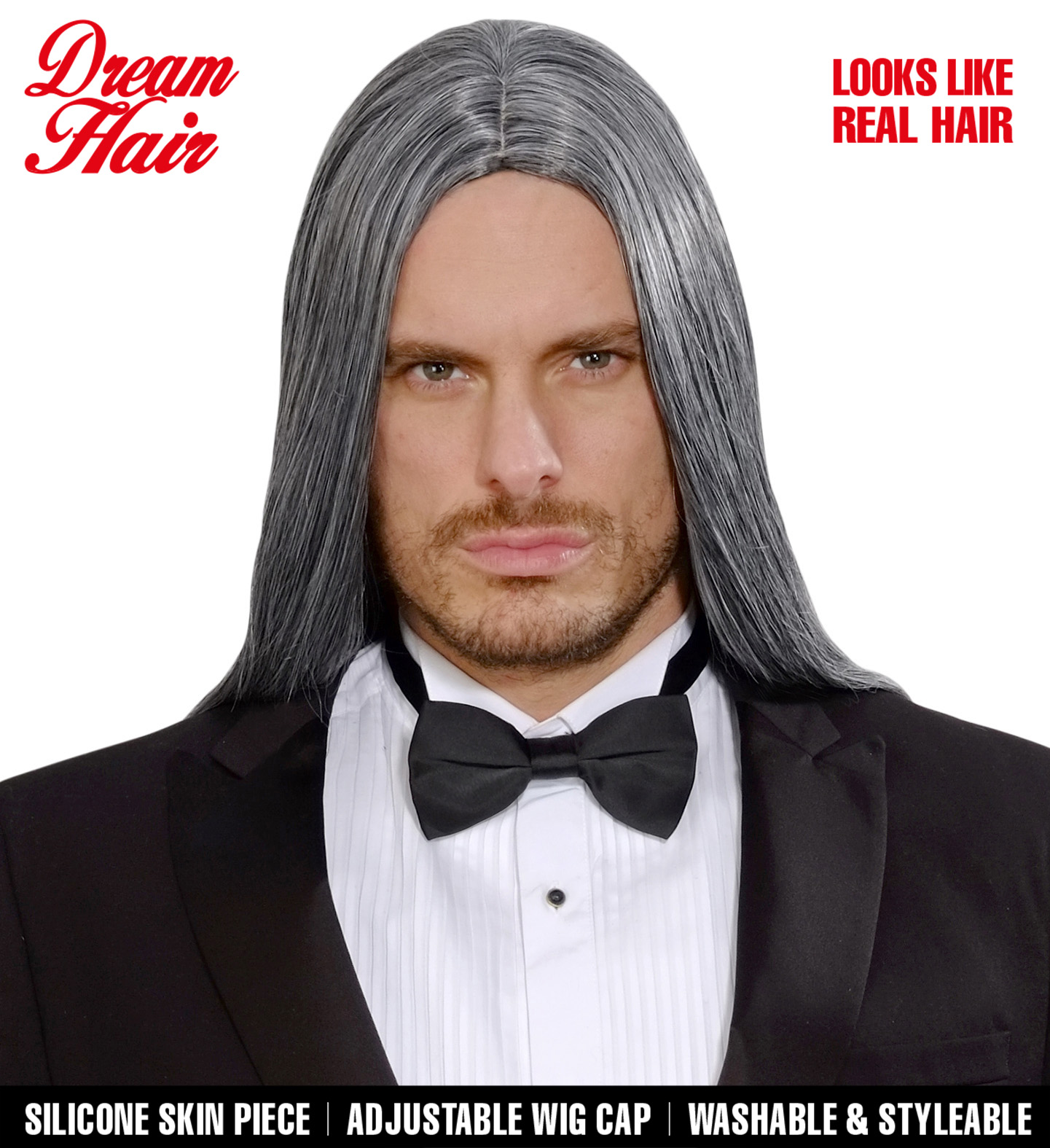 Grey Victor Dreamhair Wig Fancy Dress