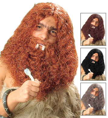 CAVEMAN WIG/BEARD BOXED