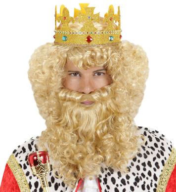 DELUXE KING WIG W/BEARD