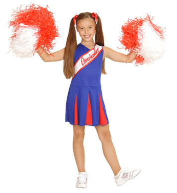 CHEERLEADER - BLUE/RED - (dress) Childrens