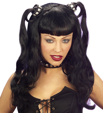 DOMINATRIX WIG IN BOX BLACK