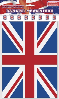 UNION JACK UK BUNTING 10MT PLASTIC