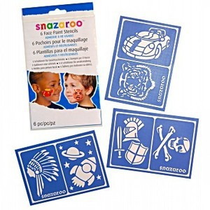 FACE PAINT STENCILS BOYS - Packet of 6