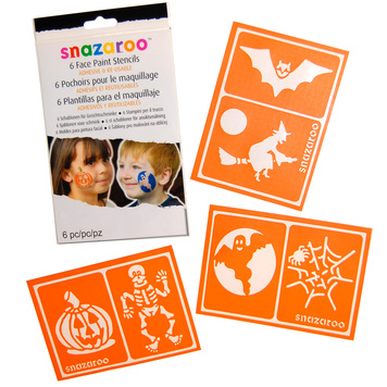 FACE PAINT STENCILS REUSABLE HALLOWEEN - Pkt 6