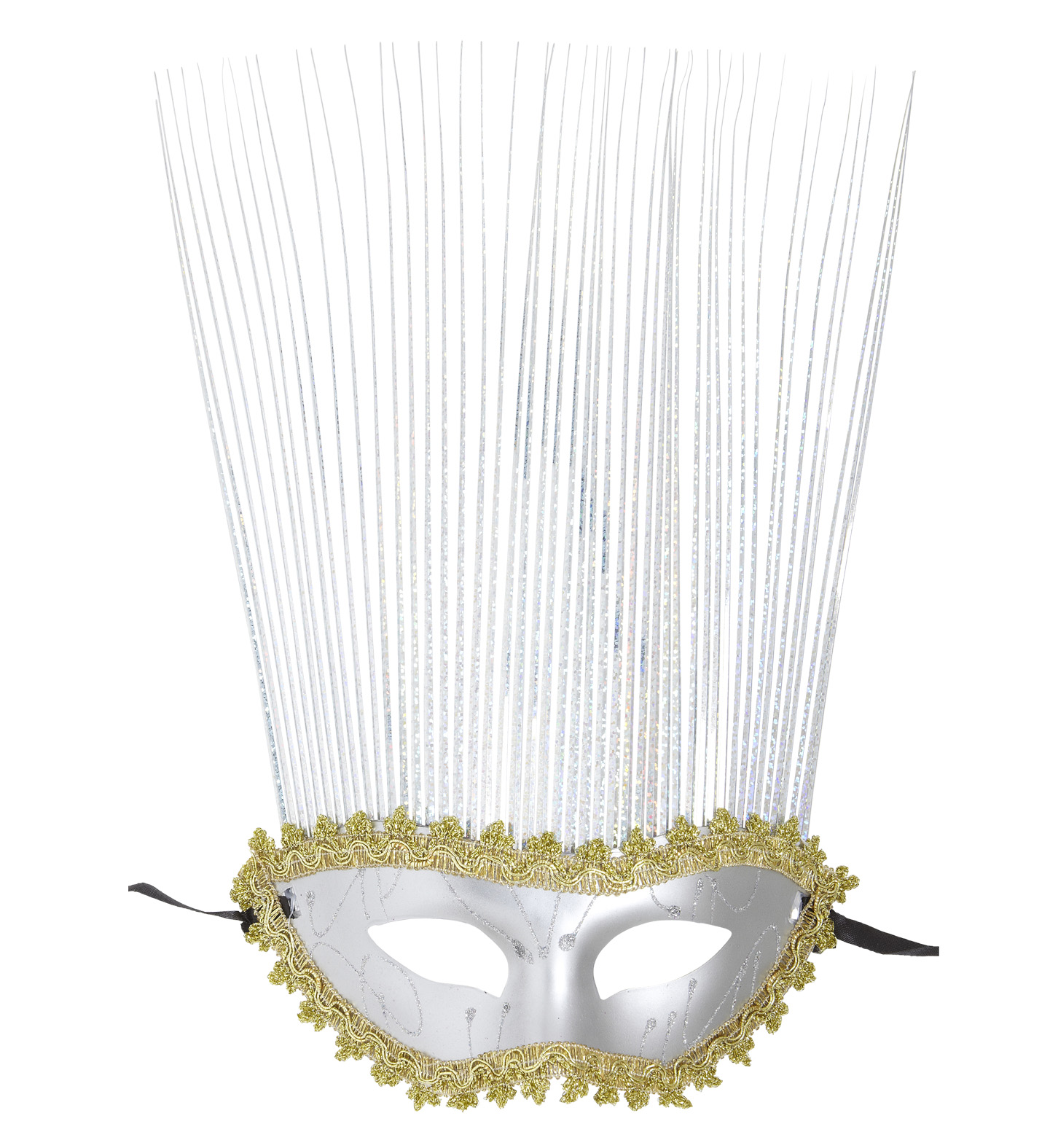 Silver Mask With Holographic Crest Eyemask Fancy Dress