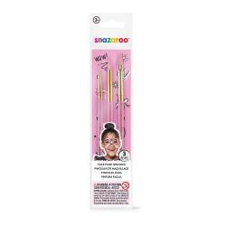 FUN MAKEUP BRUSH SET 3 PACK - PINK