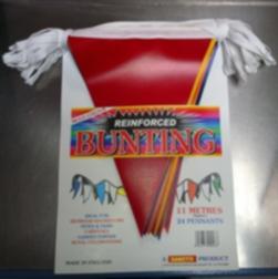 BUNTING MULTICOLOUR 11MTR PLASTIC