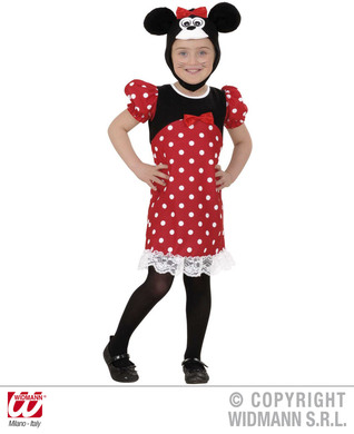 MOUSE TODDLER COSTUME (2-3yrs/3-4yrs) (dress headpiece)