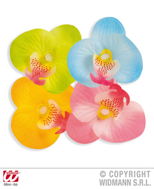 DECORATIVE ORCHID FLOWERS - 4 colours