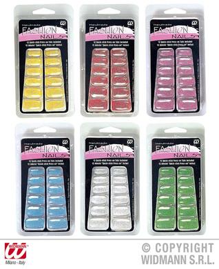 FASHION GLITTER NAILS - 6 colours